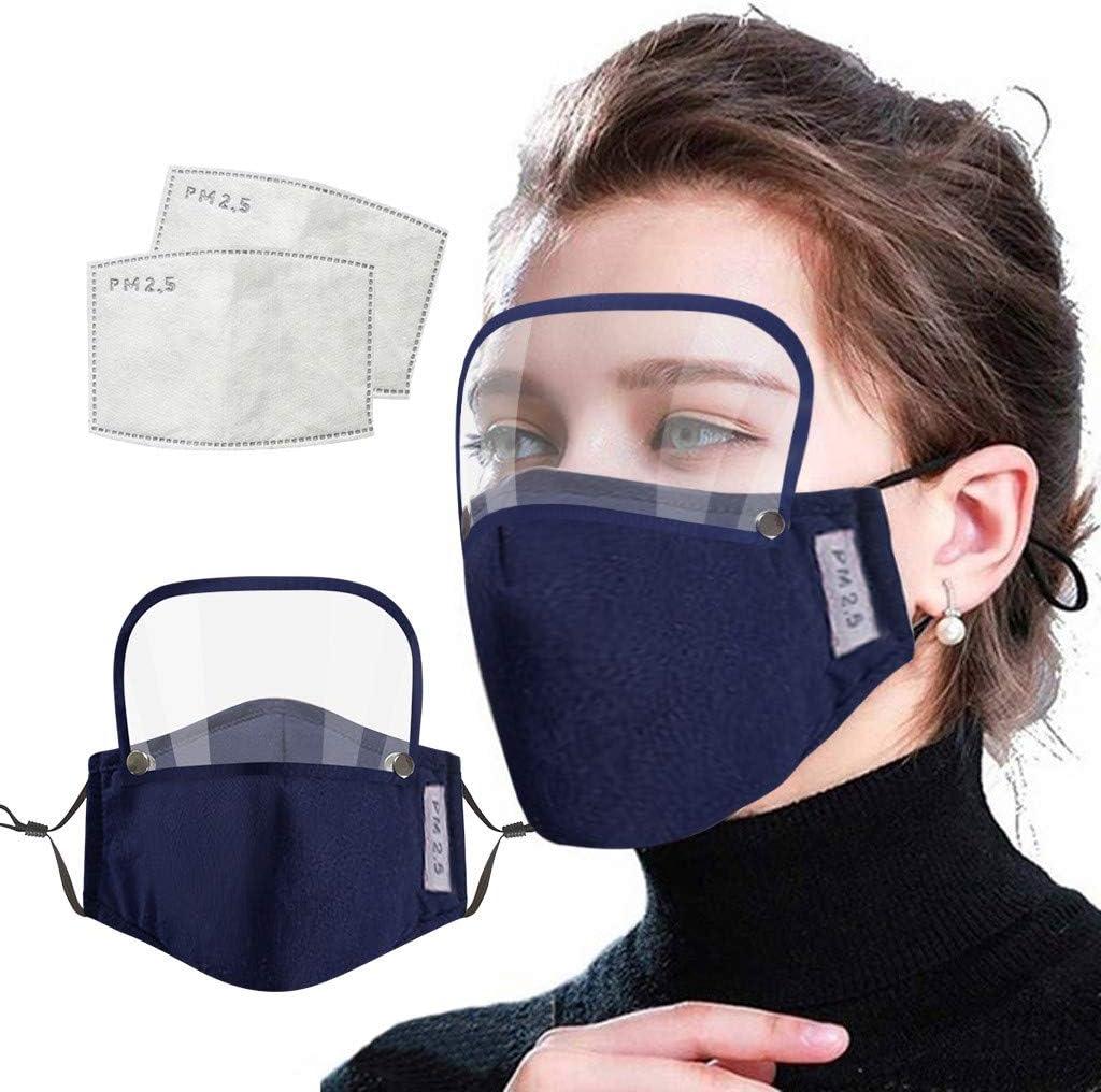 Funda unisex de algodón transpirable y protección para los ojos con escudo para los ojos + 2 filtros combinación para adultos, mujeres y hombres