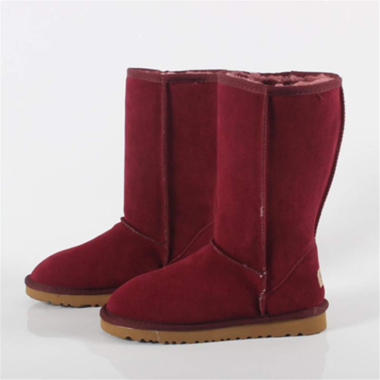 Kongsta Famous Genuine Leather Fur Snow Boots Women Top Australia Boots Winter Boots for Women Warm 3-13