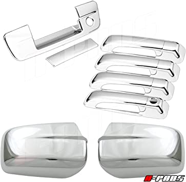 For DODGE Ram 2500+3500 2010-2016 Chrome Covers Mirrors+4 Doors+Gas+Tail Lights