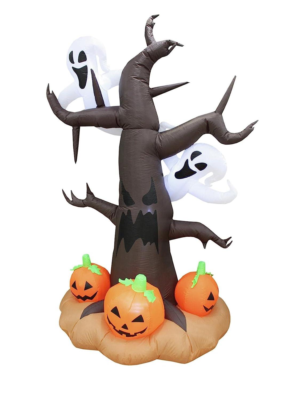 Showking Halloween Baum Baum Baum IKAROS mit Gespenstern und Kürbissen, selbstaufblasend, 240 cm - Gursel Dekoration 5b28f6