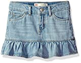 Image of Levi's Little Girls' Alessandra Scooter Skirt, Bleach Out, 6X