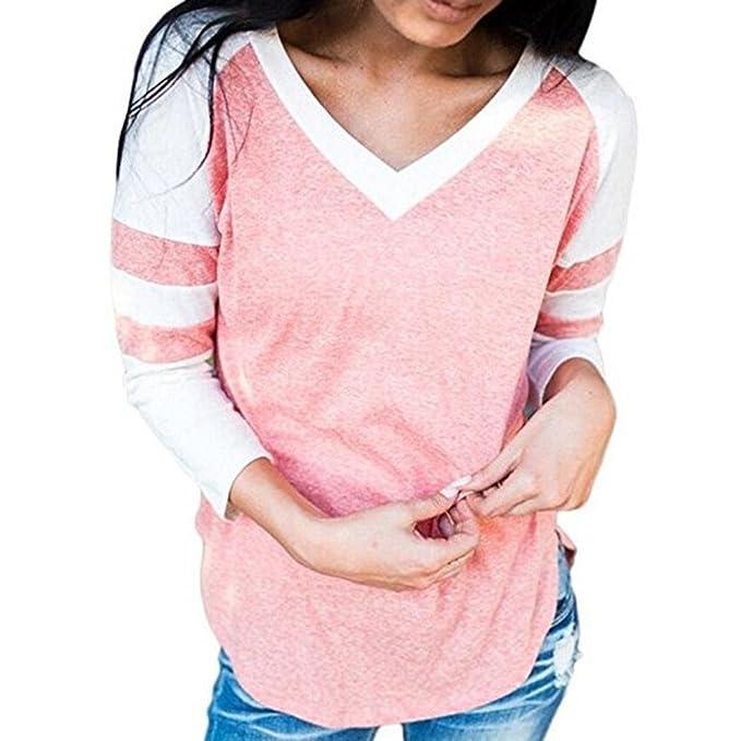 Ropa Camisetas Mujer, BBestseller Camisas Mujer Otoño e Invierno Elegantes Casual Tallas Grandes Deporte Poliéster