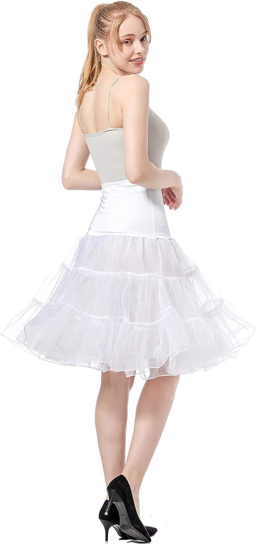 CHYU Sottogonna Donna Gonna Tulle Donna Petticoat Gonne Kawaii Vita Alta Vintage Anni 50 Mini Gonne