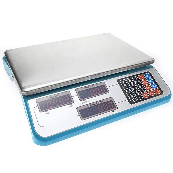 Cablematic - Balanza mostrador de sobremesa con bandeja de 335x230mm: Amazon.es: Electrónica