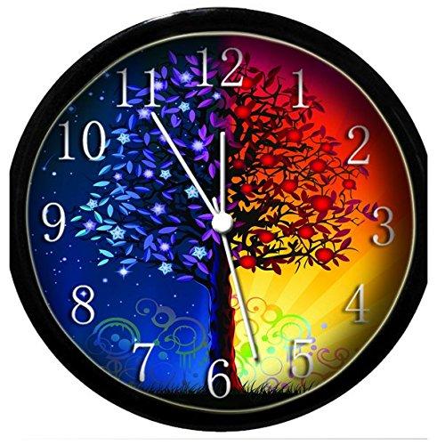 Glow In the Dark Wall Clock - Sun & Moon Tree