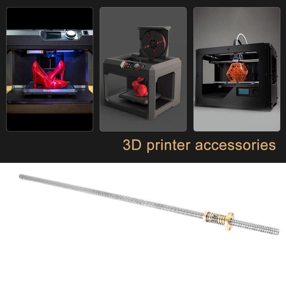 400mm federnder Mutter f/ür 3D-Drucker 300mm 400mm T8-Gewindestange-Gewindespindel Edelstahl mit spielfreier
