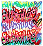 Free Shipping 39'' x 36 California Love painting street art graffiti canvas nyc style contemporary pop art modern colorful original acrylic spray paint art work by Chris Riggs