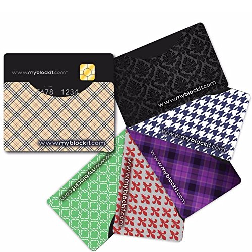 Blockit Rfid Protector Sleeves   Made In The Usa   Recommended By Lifelock    6 Pack  Credit Debit Card Protectors  Slim Cards Holders Fit All Mens   Womens Wallets  Includes Bonus Security Ebook