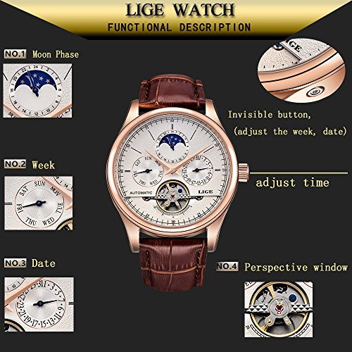 Watches-Mens-uxury-Brand-LIGE-Mechanical-Automatic-Men-Waterproof-Moon-Phase-Brown-Leather-Wrist-Watch