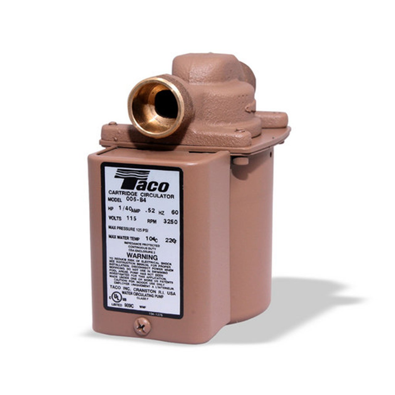 Taco 006-B4-1PNP Bronze Circulator Pump 3/4-Inch Sweat with Line Cord by Taco