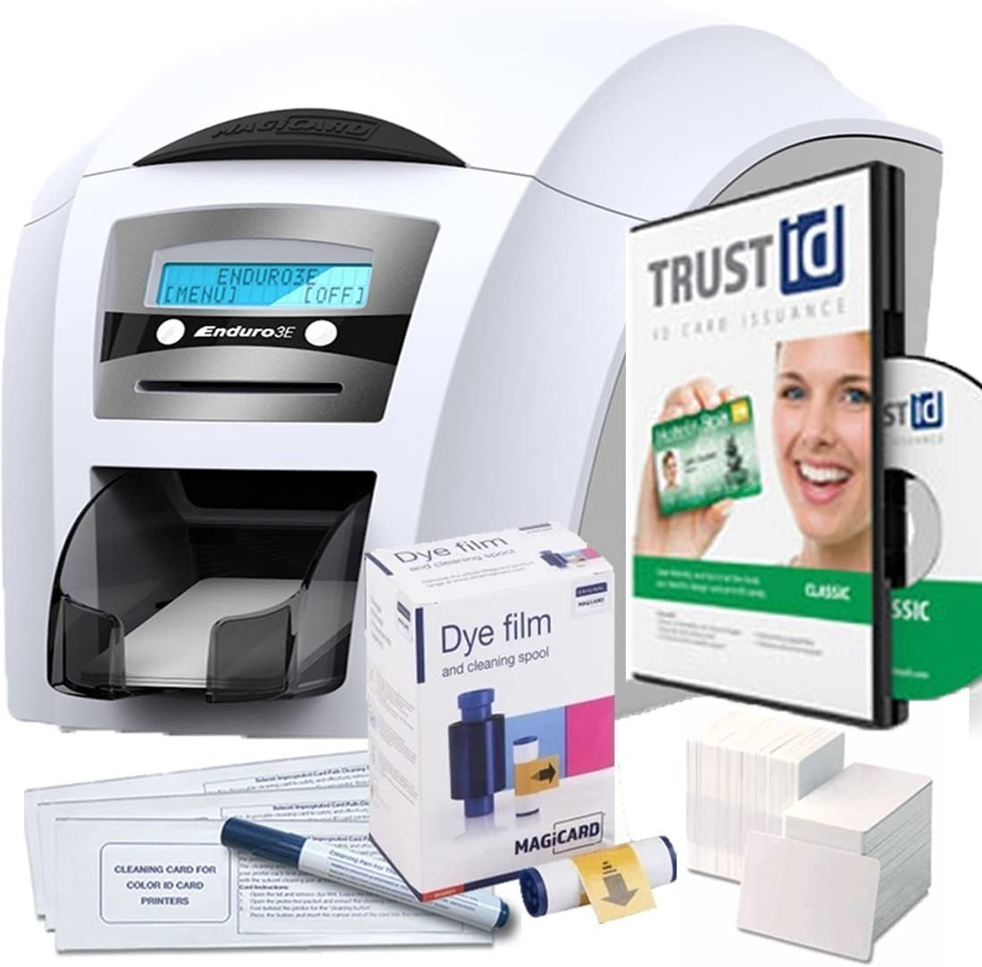 Magicard Enduro3e Dual Sided ID Card Printer & Supplies Package -Official Bundle: Electronics