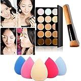 Internet 15 couleurs de maquillage Palette correctrice Contour + Eau Éponge + pinceau de maquillage