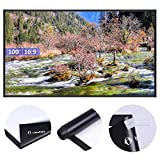Instahibit 100'' 16:9 Portable Front Projection Screen Matte White HD Movies Home Theatre Outdoor Yard Conference