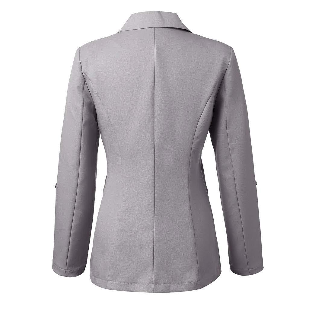 BESSKY Femme Manteau Blazer /à Manches Longues Ouvert Devant Court Cardigan Costume Veste Manteau De Bureau De Travail
