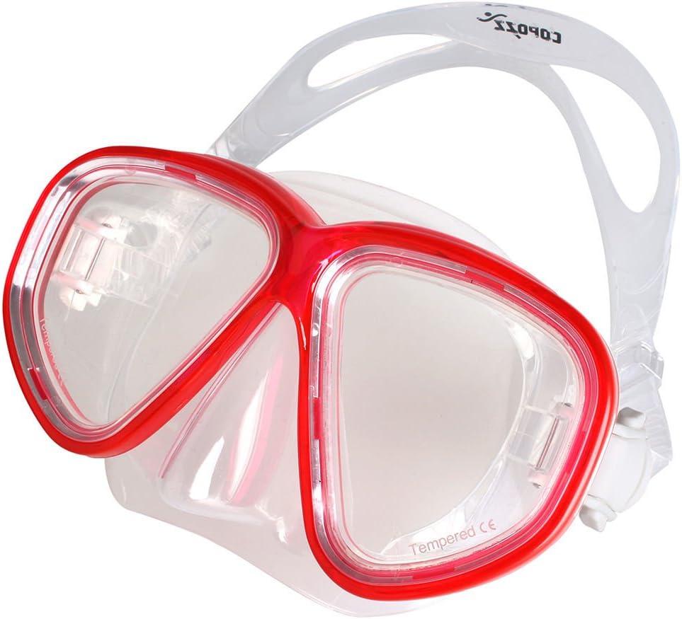 レッドダイビングマスクゴーグル水泳ダイビングゴーグルメガネ曇り止めUV Underwater