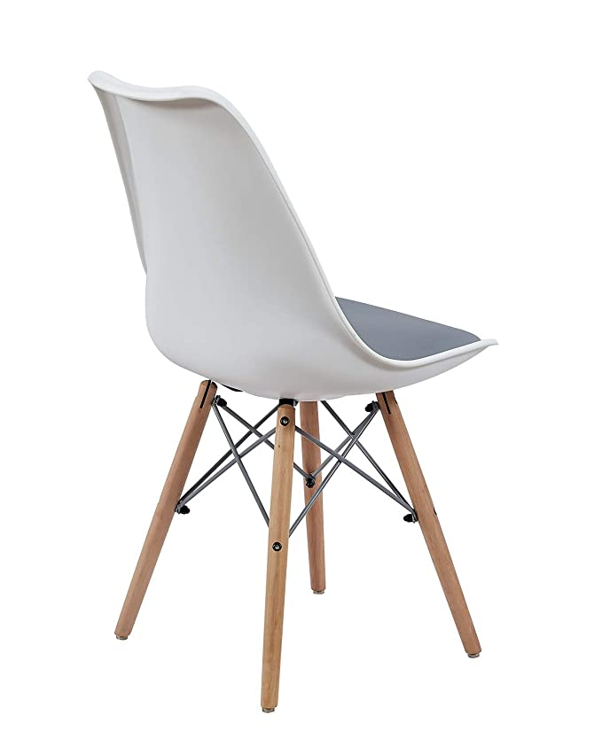 NASILot Gris et KAYELLES de 2Blanc Chaises Design 8wmnv0N