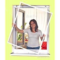 easy life greenLINE raamhor, 100 x 120 cm, in wit, vliegengaas met aluminium frame, insectenraam, zonder boren…