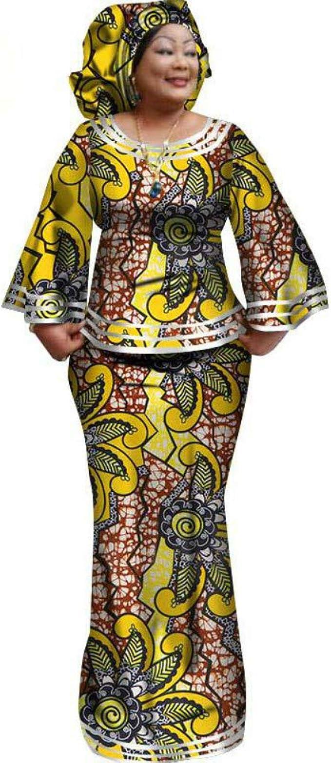 HUALI Disfraz de Batik Africano de algodón Personalizado con Falda ...