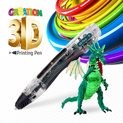 Price comparison product image 3D Doodler Pen - Safe for Kids & Adults  Simple 1 Button Operation  Wont Burn  No Mess  Non-Toxic  Wont Clog Guaranteed - 2017 Gen 3D Printing Pen