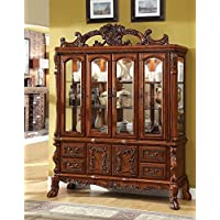 247SHOPATHOME Idf-3557HB China-Cabinets, Oak