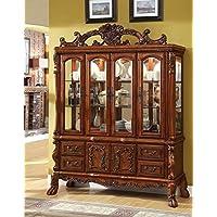 247SHOPATHOME Idf-3557HB China-Cabinets, Oak