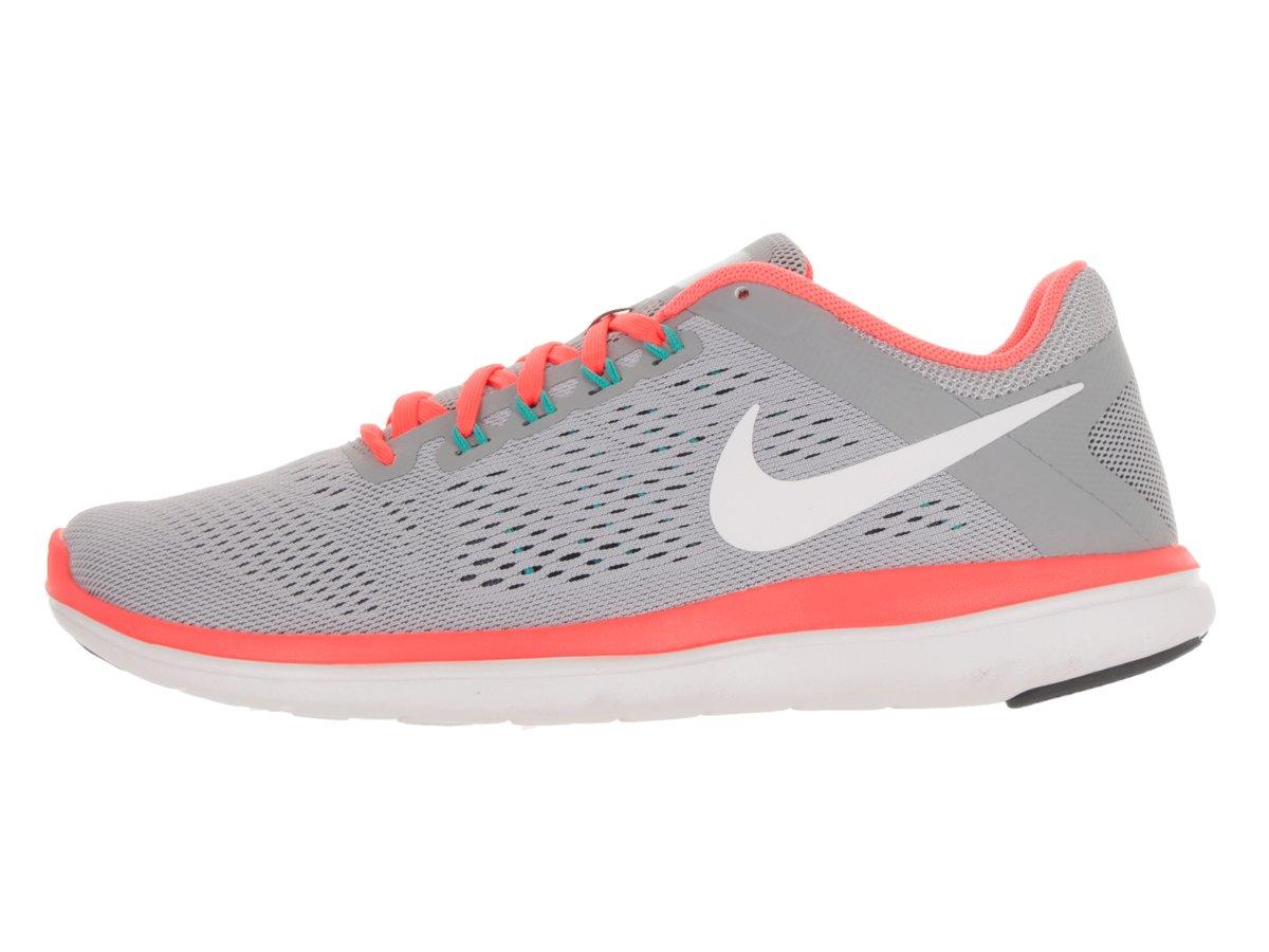 NIKE Women's Flex 2016 Rn Running Shoes B00E8JPGT4 12 B(M) US|Wolf Grey/White/Dark Grey/Bright Mango