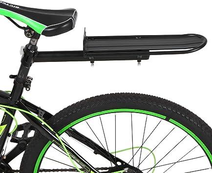 Lixada Estante de Poste Portaequipajes Alforja de Aleación de Aluminio Bici Asiento Trasero Carga hasta 9 kg: Amazon.es: Deportes y aire libre