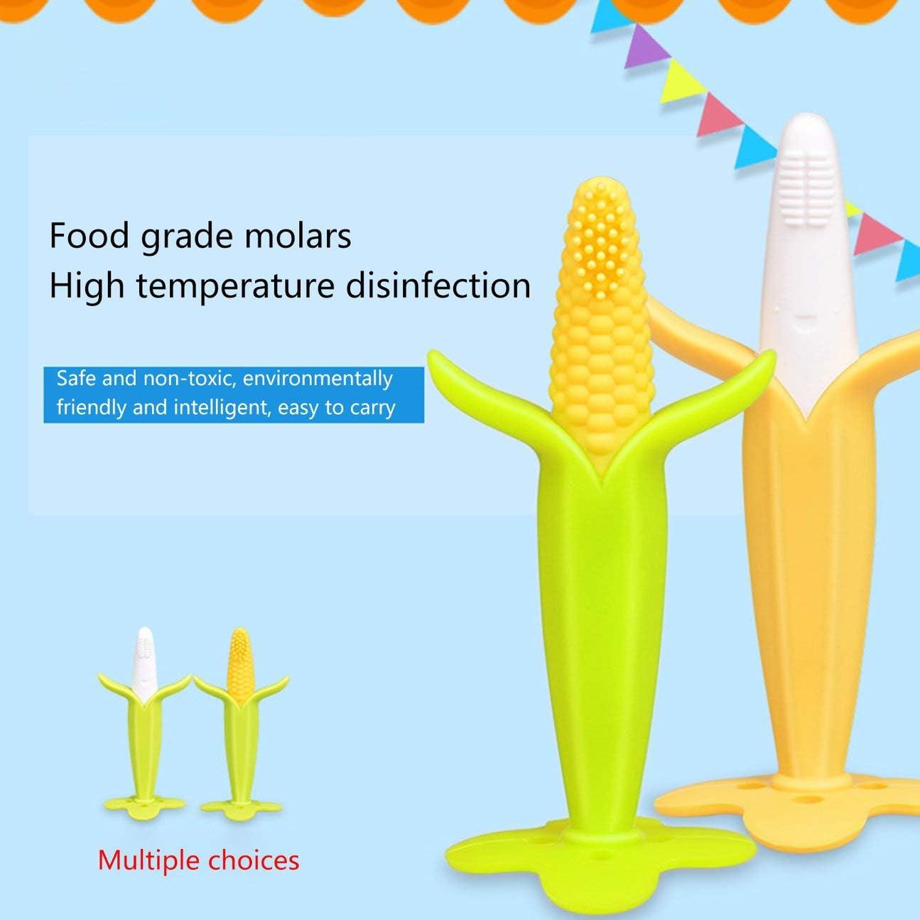 MachinYesell Fruit Mignon Silicone b/éb/é Pendentif en Silicone de Dentition Bpa Gratuit Chewing-Gum pour b/éb/é Grind Jouets de Dentition ma/ïs Vert