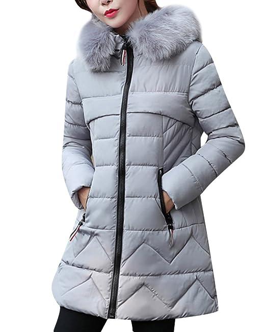 DianShao Mujer Abrigo con Capucha Chaqueta Gruesa Invierno Mantener  Caliente Jacket  Amazon.es  Ropa y accesorios a1bc9a0d60d