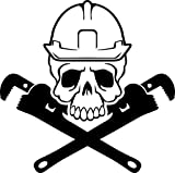 KCD Pipe Fitter Skull and Crossbones Vinyl Decal
