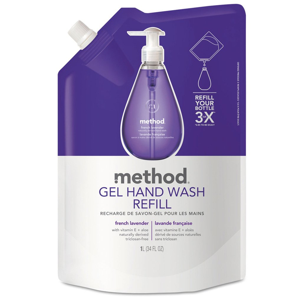 dolly2u Gel Hand Wash Refill, French Lavender, 34 Oz Pouch, 6/carton