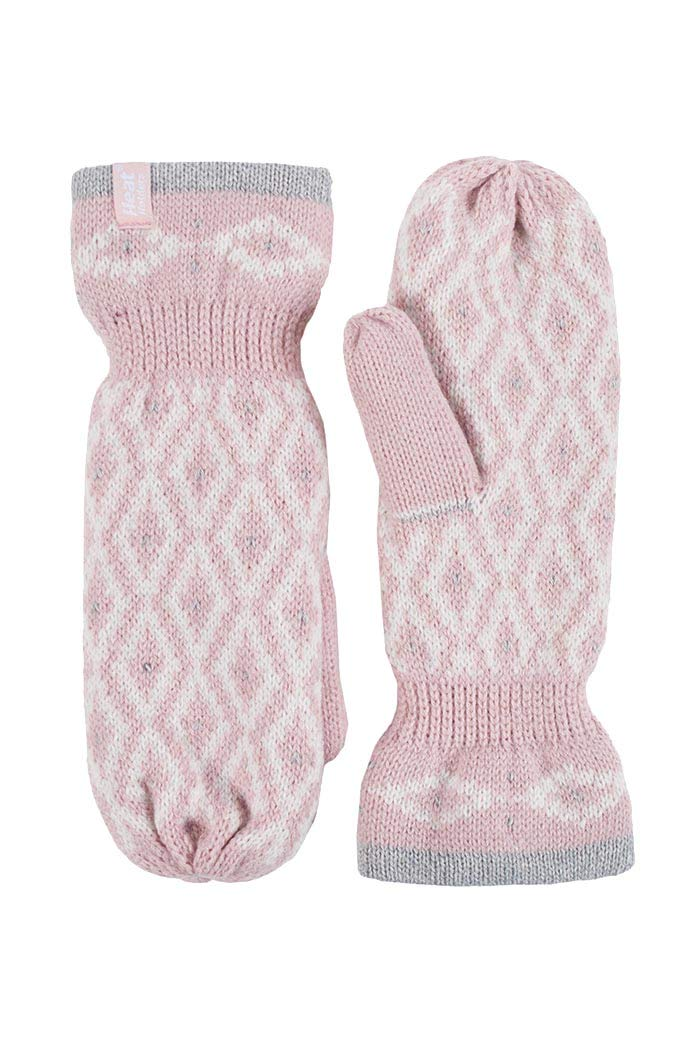 Heat Holders Womens Cold Weather Fleece Insulated Outdoor Thermal Winter Mittens (One Size, Black)