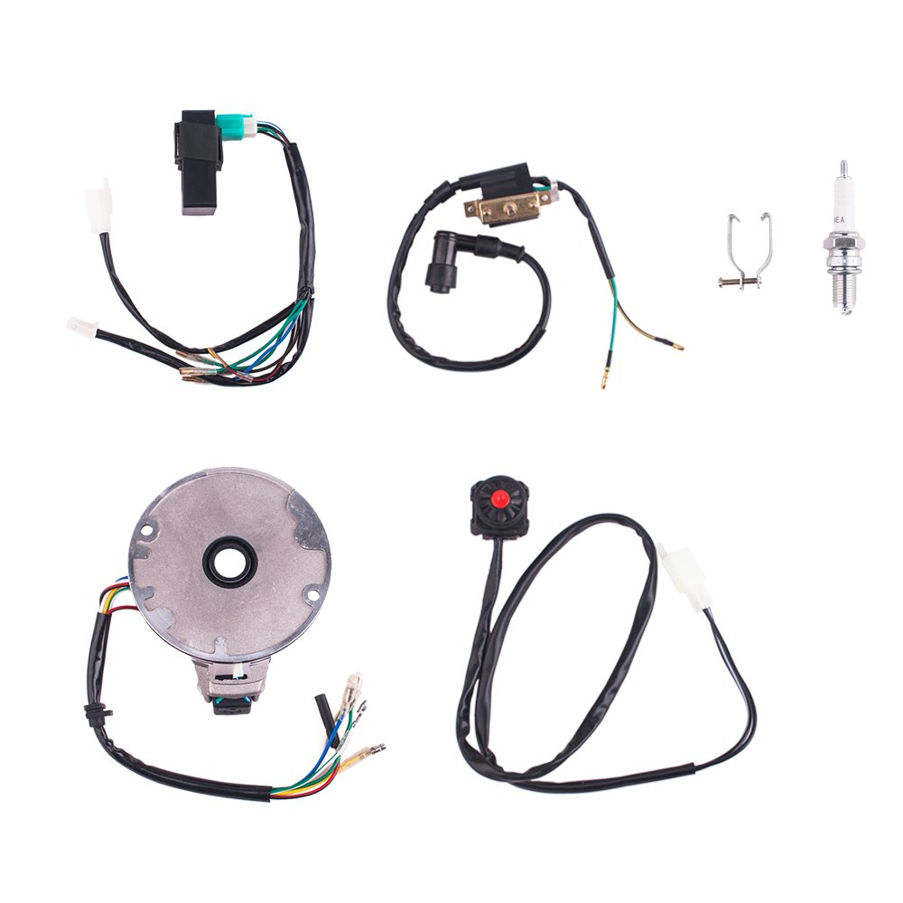 Cisno Kick Start Dirt Pit Bike Wire Harness Wiring Loom Kill Switch Also With Electric Bicycle Conversion Cdi Coil Magneto 50 125cc Automotive