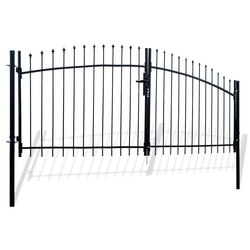 ALEKO DWGD11X5 DIY Arched Steel Dual Swing Driveway Gate Kit with Lock Athens Style 11 x 5 Feet by ALEKO (Image #2)