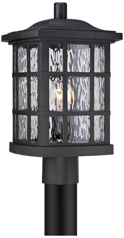 Quoizel SNN9009K Stonington 1-Light Outdoor Lantern, Mystic Black