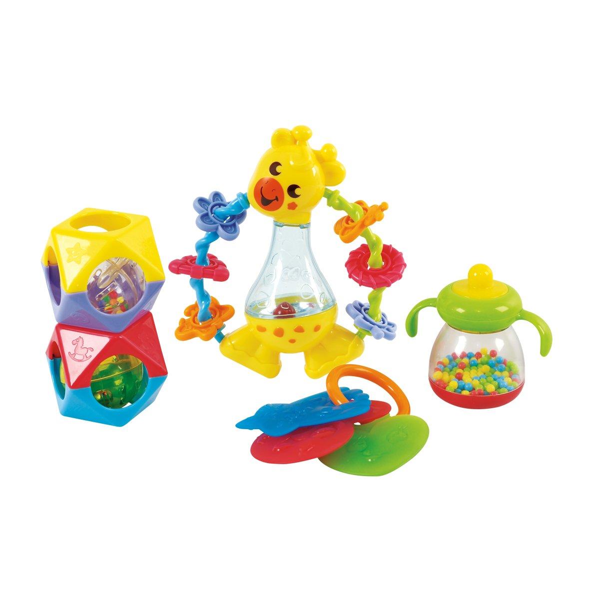 5 Piece PlayGo Rattle /& Teethe Set