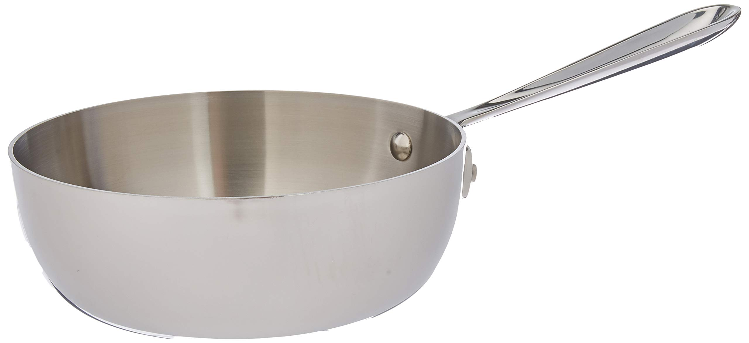 All-Clad Lid 4212 No Whisk D3 Saucier, 2-Quart, Silver by All-Clad
