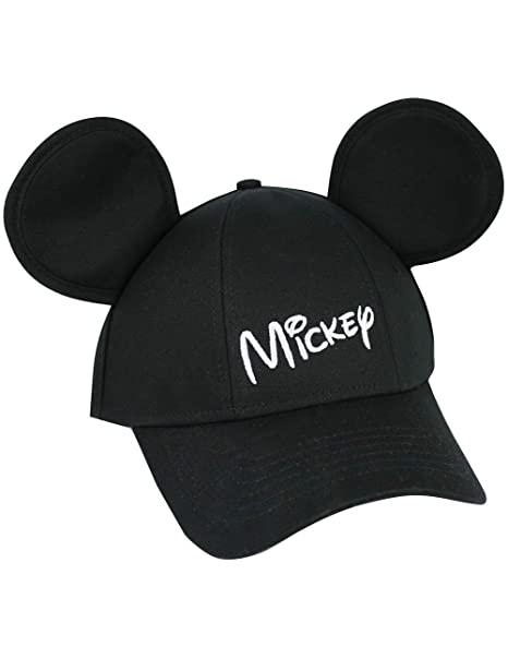 1efe11c3d29d2 Amazon.com  Disney Youth Hat Kids Cap with Mickey Mouse Ears (Mickey  Black)  Clothing