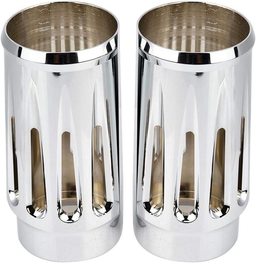 1 Pair Aluminium Alloy Upper Fork Boot Slider Fork Shock Covers for Touring FLT FLHR FLHT FLHX Black Suuonee Upper Fork Shock Cover