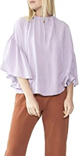 product image for Hackwith Design House Womens Keyhole Cropped Drawstring Top Lavender XS/S, M/L