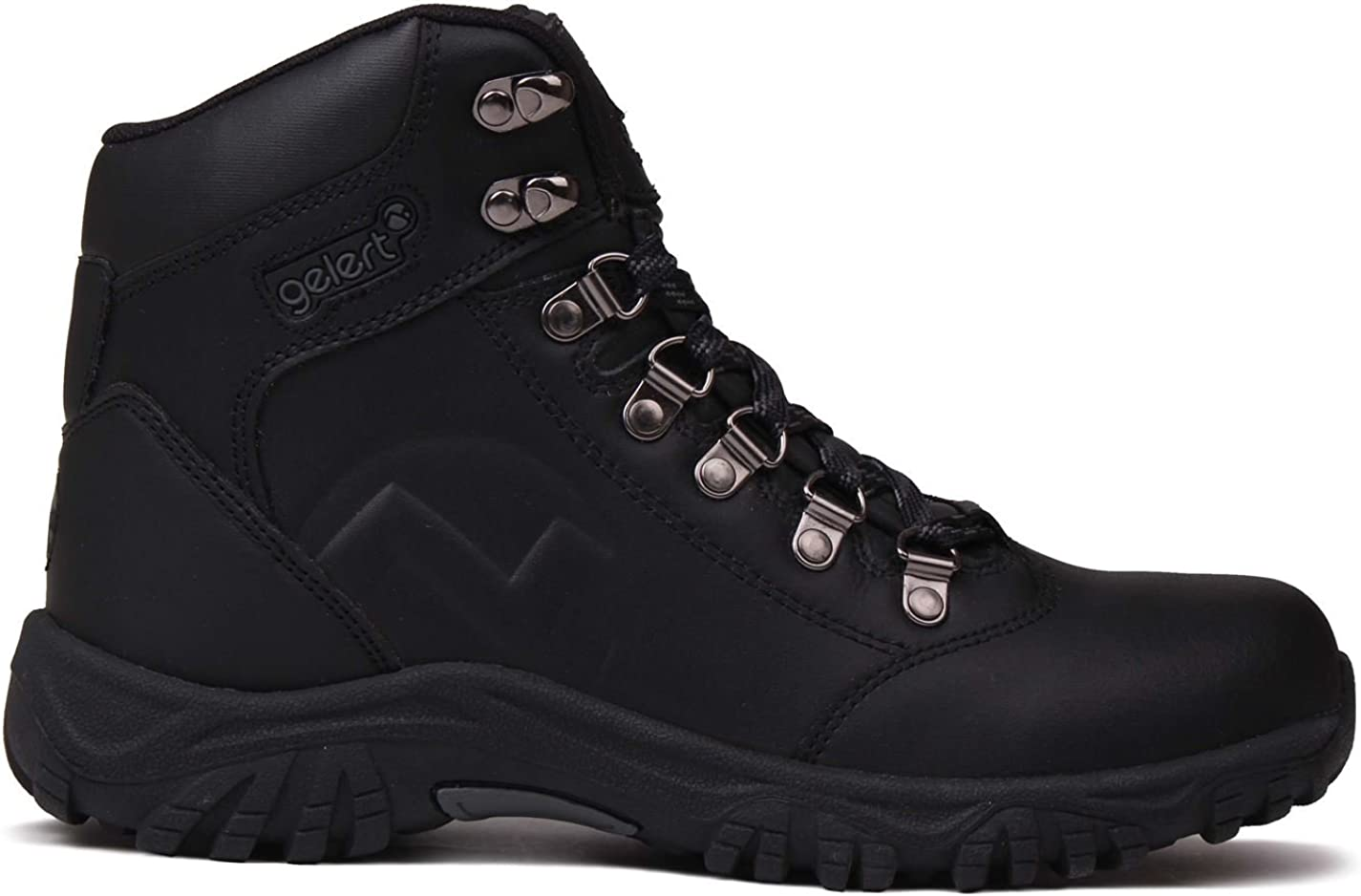 Gelert Kids Leather Walking Boots Metal