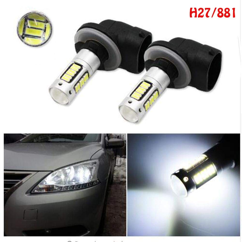 Amazon.com: Niome 2Pcs H1/H27(881) 30SMD 4014 LED Car Driving Fog Lights Replacement Head Bulbs DC 12V H27: Automotive