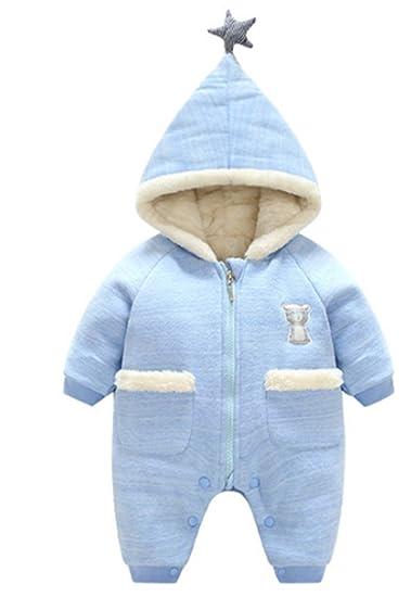 YOGLY Ropa para Bebé Invierno Mono Peleles con Capucha Mameluco de Bebé 0-24 Meses: Amazon.es: Ropa y accesorios