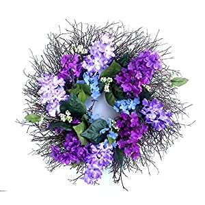 Small Lilacs and berries spring wreath, Summer wreath for front door - 14 inch 45