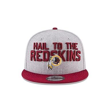 c67c676d08f Amazon.com  New Era Washington Redskins Official 2018 NFL Draft On-Stage  Snapback 9Fifty Adjustable Hat - Heather Grey  Clothing