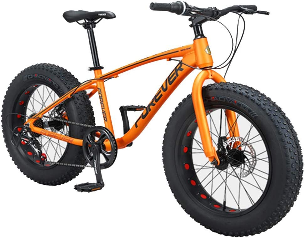 Bicicletas de montaña para niños, bicicletas antideslizantes con neumáticos de grasa de 9 pulgadas y 20 pulgadas, bicicleta de freno de doble disco con marco de aluminio, bicicletas de montaña rígida: Amazon.es: