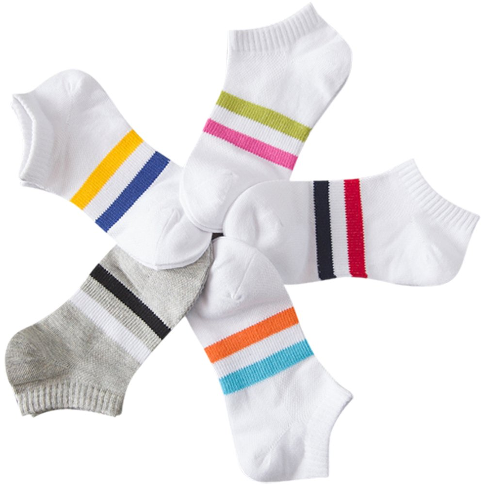 Searchself Little Boys' Cotton No Show Low Cut Liner Socks (Pack of 5) (1-3 Years, sport)