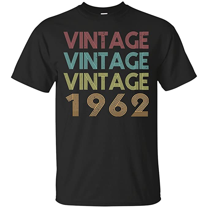 Amazon.com: Camiseta de cumpleaños vintage 1962 para hombre ...