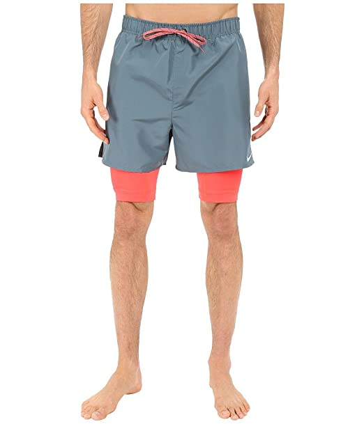 b73ac187755c0 Nike Mens 2-In-1 Training Swim Bottom Trunks: Amazon.co.uk: Clothing