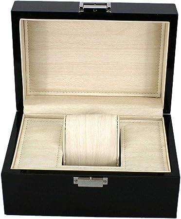 LIYANSBH - Cajas para relojes Caja de Reloj de Rejilla única for Hombres Caja de Viaje de Metal Joyas Pulsera Regalo Almacenamiento de exhibición: Amazon.es: Hogar